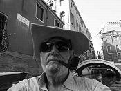 Bill Marsano by kayak in Venice